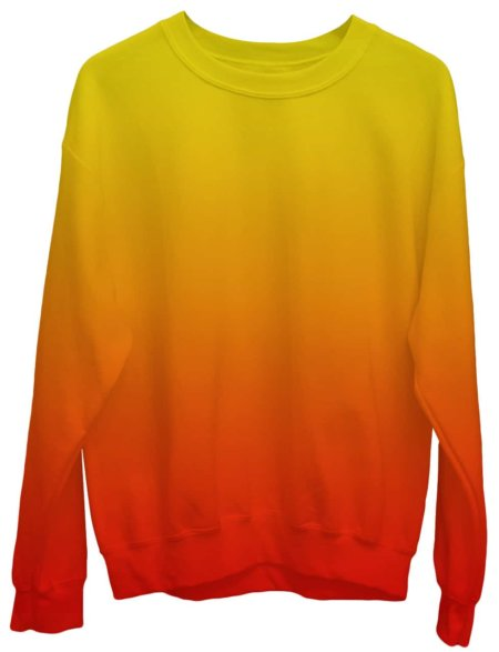 Gradient Sweatshirt / Unisex Size designer fashion color yellow orange red