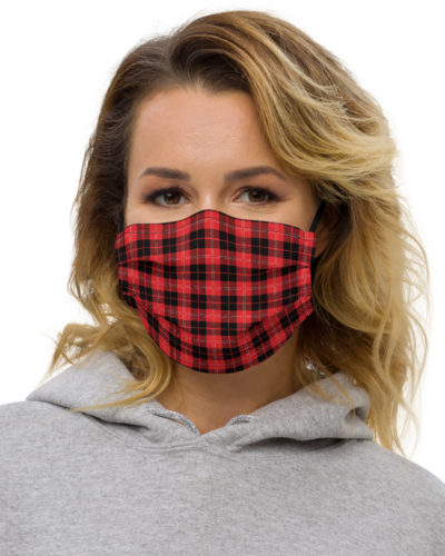 anti virus coronavirus covid 19 red yellow black white blue designerProtective Plaid Face Mask