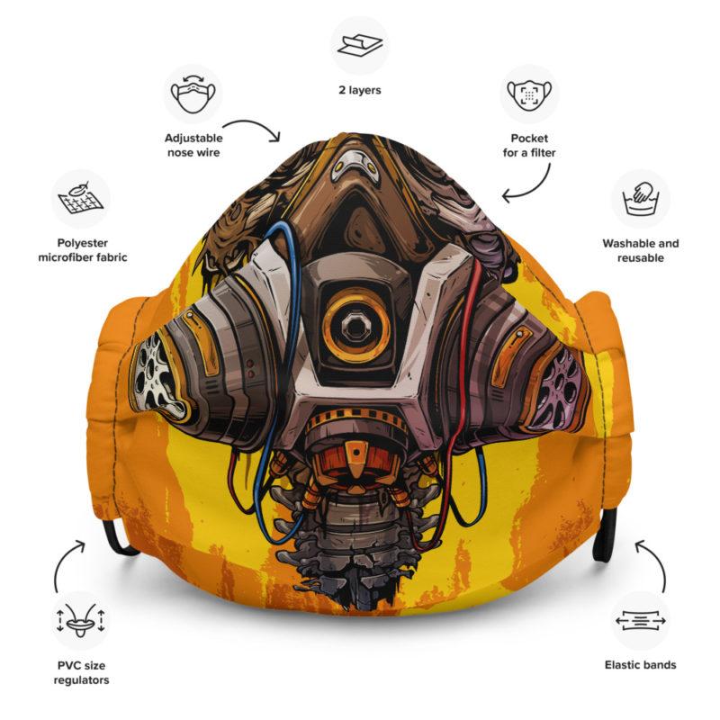 Skeleton Gas Mask Protective Face Mask anti virus coronavirus covid 19