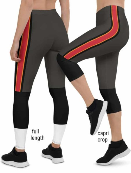 Tampa Bay Buccaneers Game Day Football Uniform Leggings brown