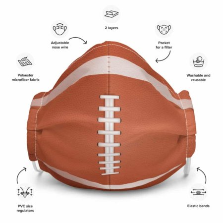 Football Protective Face Mask nfl leather brown ball sports