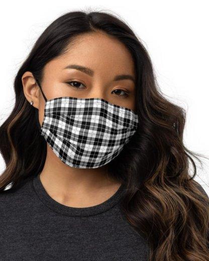 anti virus coronavirus covid 19 red yellow black white blue designerProtective Plaid Face Mask