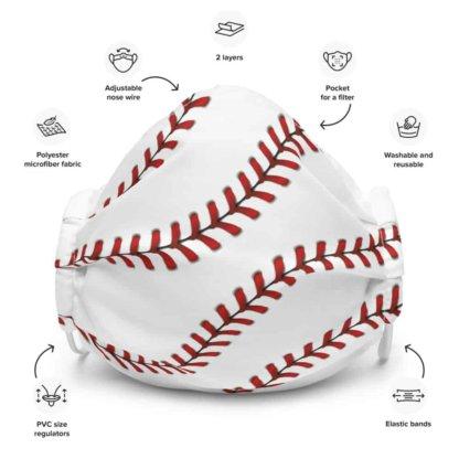 Baseball stitches Protective Face Mask anti virus coronavirus virus rona covid19