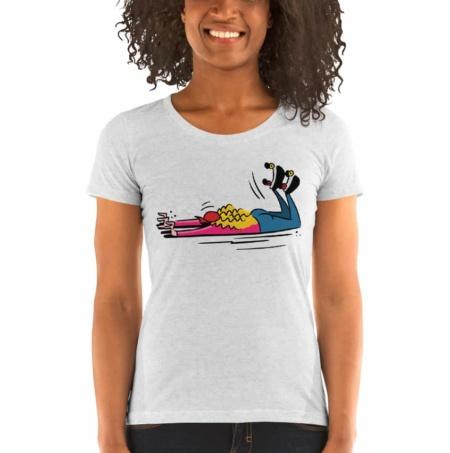 Roller Girl – Women Scoopneck Shirt Rollerskating skating roller skating
