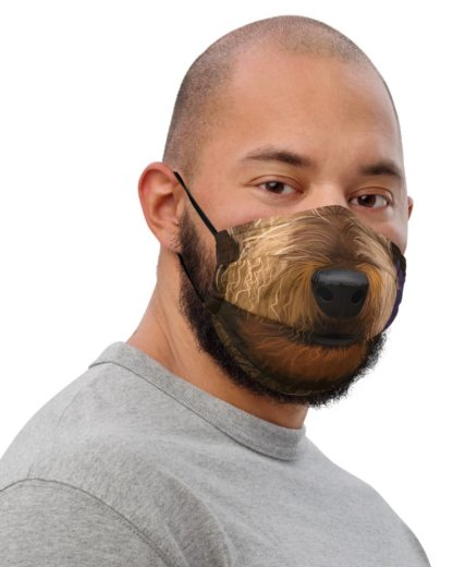 Airedale Terrier Dog Face Protective Face Mask Puppy