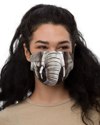 Elephant Face Protective Face Mask Trunk animals