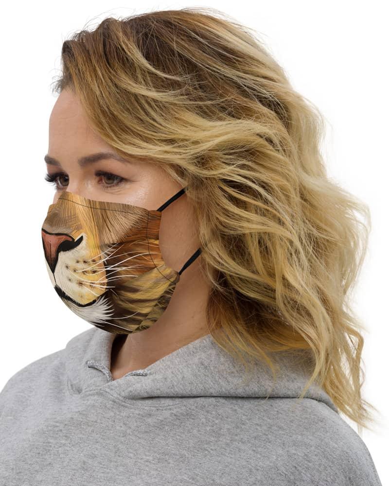 Big Cat Lion Face Protective Face Mask