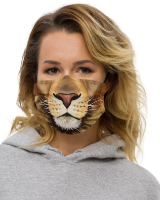 Big Cat Lion Face Protective Face Mask