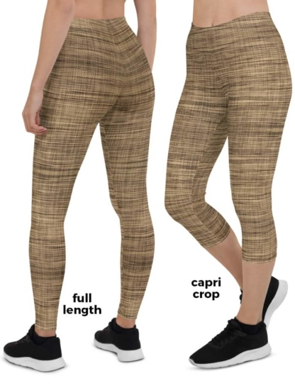 Organic Fabric Natural Linen Texture Leggings