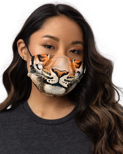 Big Cat Tiger Face Protective Face Mask Tigress