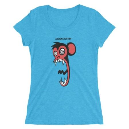 Crazy Chimp / Women's Short Sleeve Monkey T-shirt