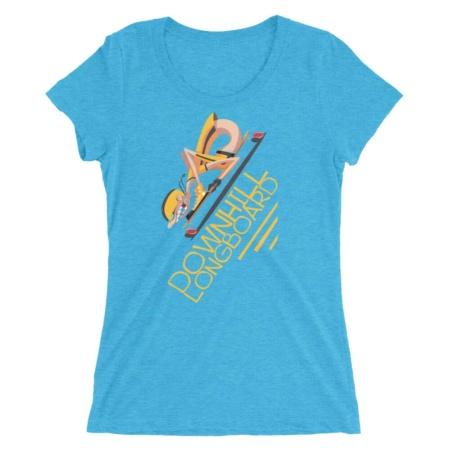 Downhill Longboard Skater T Shirt / Women's Short Sleeve Top