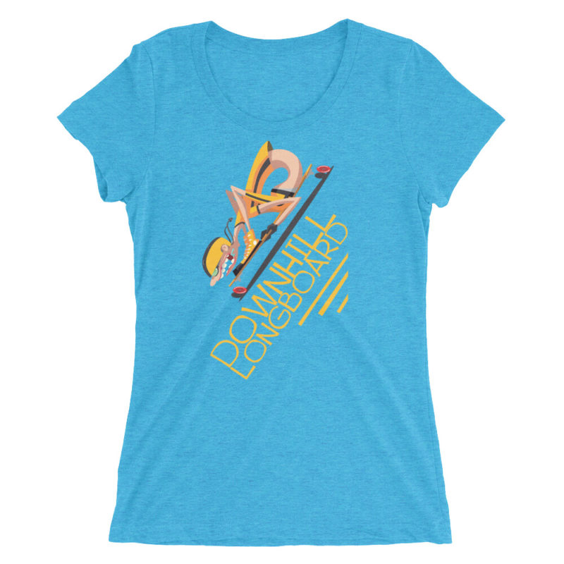 Downhill Longboard Skater T Shirt / Women's Short Sleeve Top