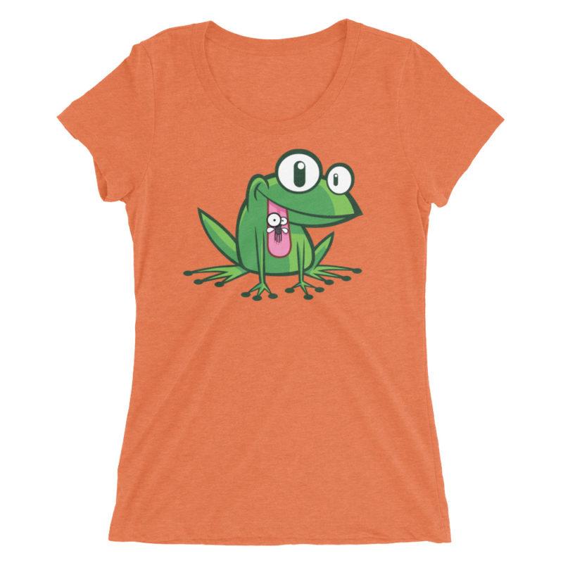 Green Frog T-shirt / Women's Short Sleeve Top