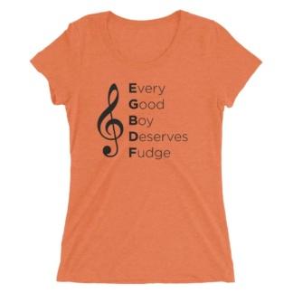 Music Every Good Boy Deserves Fudge T-shirt / Women's Short Sleeve