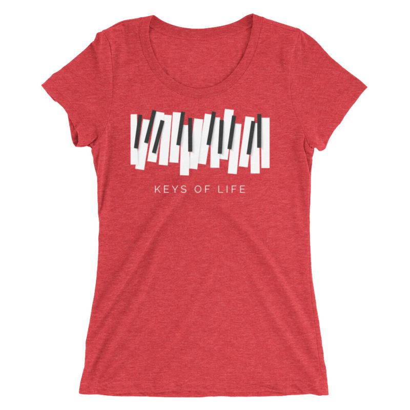Piano Keys T-shirt Women's Short Sleeve Top