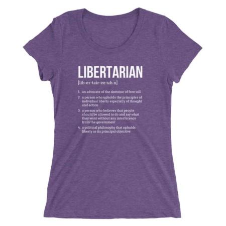 Political Libertarian T-shirt / Women Short Sleeve Tee