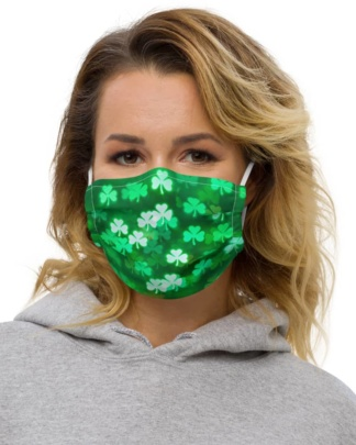 Irish Ireland Saint St Patrick's Day Green Shamrock Protective Face Mask