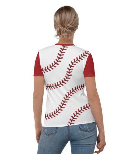 Baseball Stitches T-shirt / Women's Short Sleeve Top