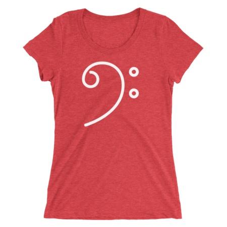 Bass Clef Music / Short-Sleeve Women's T-Shirt