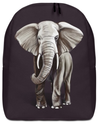 Elephant Backpack with Laptop Sleeve