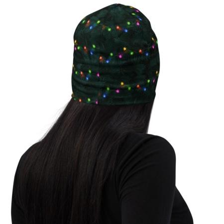 Christmas Tree Lights Hat Beanie Festive holidays