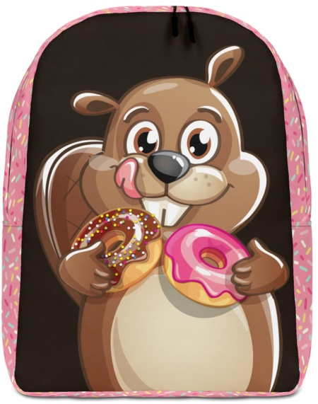 Beaver with Donuts Backpack