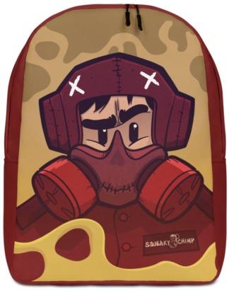 Designer laptop backpack industrial cartoon gas mask with anti theft hidden pocket