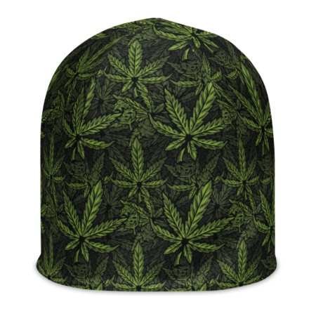 Marijuana Beanie Hat green Marijuana, cannabis, hemp, pot, weed, dope, ganja, splif