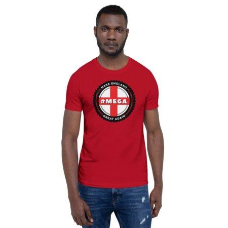 #Mega / Make England Great Again / Short-Sleeve Men's T-Shirt / British UK United Kingdom