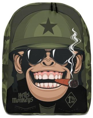 Military Biker Monkey Backpack