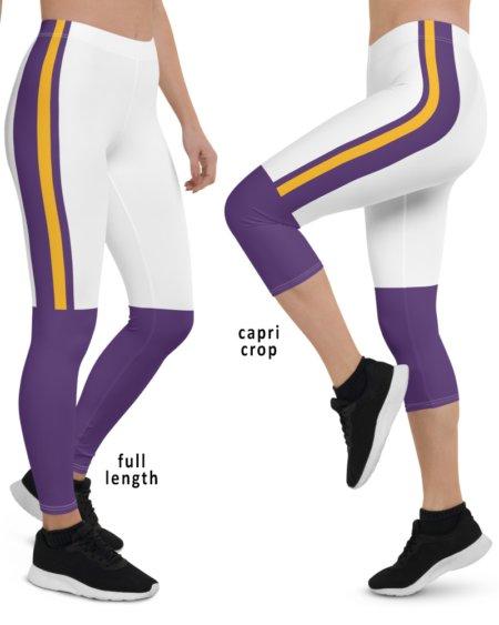 Sexy Purple & Gold Minnesota Vikings Football Uniform Leggings