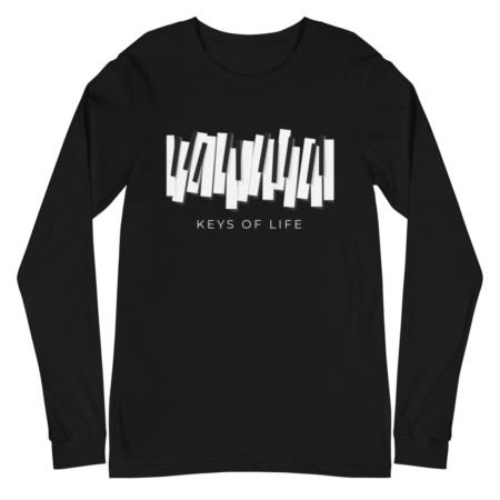 Piano Keys Of Life / Unisex Long Sleeve T-Shirt music musician