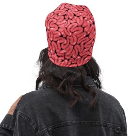 Halloween guts brain brains Beanie Hat smart winter