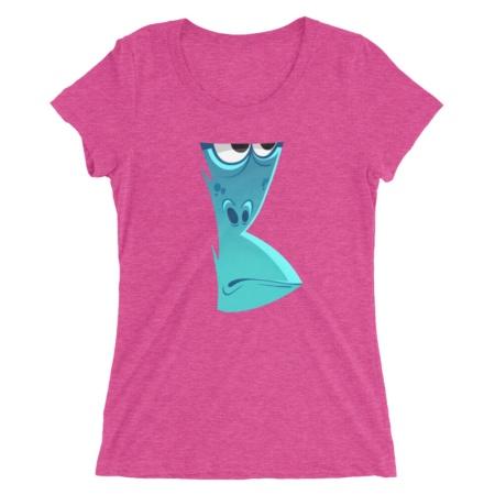 Chimp Face T-shirt / Women's Short Sleeve Top